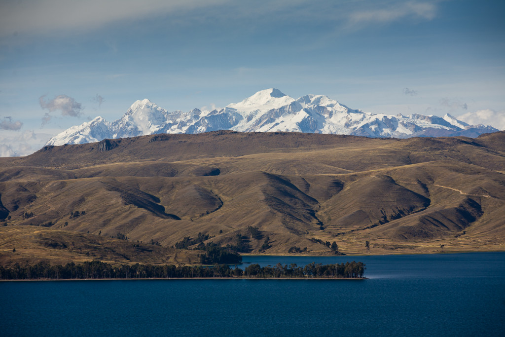 The Straits of Tiquina on Lake Titicaca, Bolivia.
