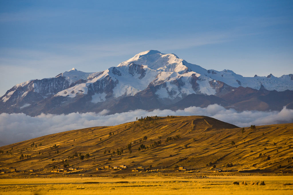 Mt. Ancohuma (6428m/21,085ft) in the Cordillera Real as seen fro