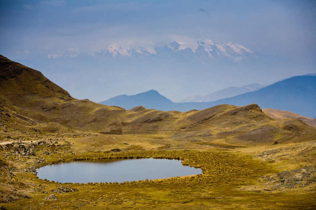 A lake high in the puna region of the Apolobamba Range in the Bolivian Andes.
