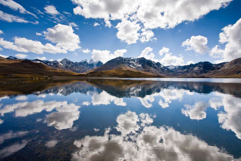 Reflections of Mt. Tuni Condoriri in the Cordillera Real, Bolivi