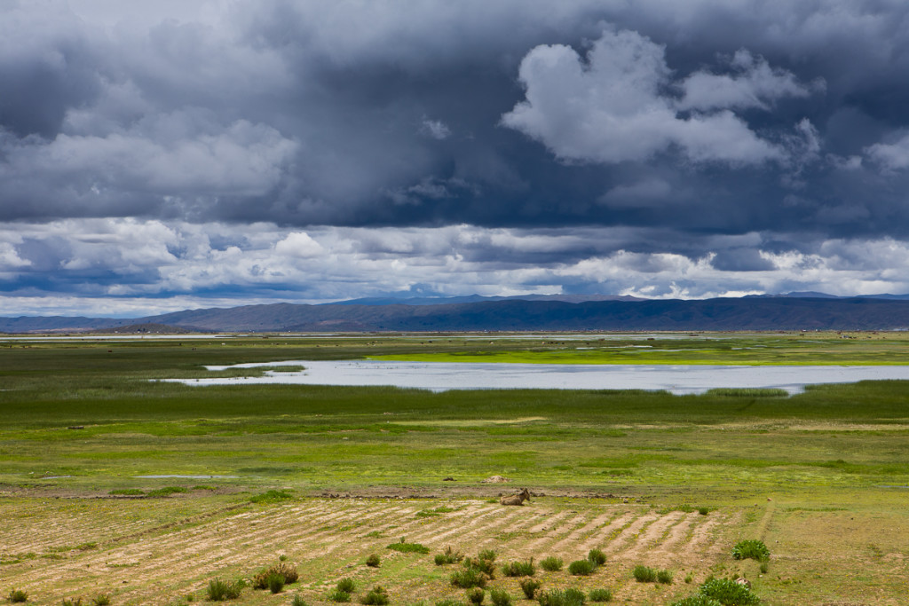 Clouds bring rain during the wet season on the Bolivian Altiplano.