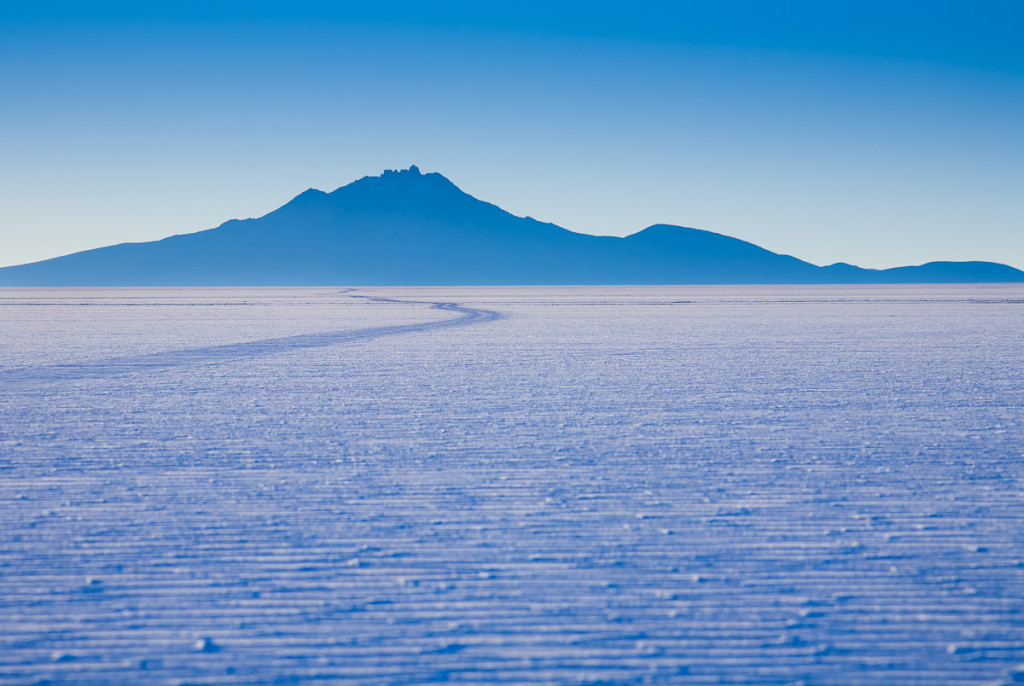 Informal roads on the Salar de Uyuni in southwest Bolivia.
