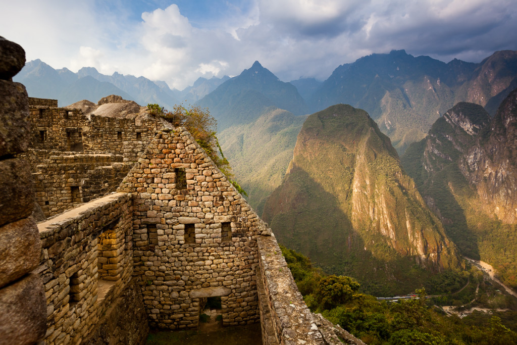 View of Machu Picchu - the Lost City of the Incas - located in t