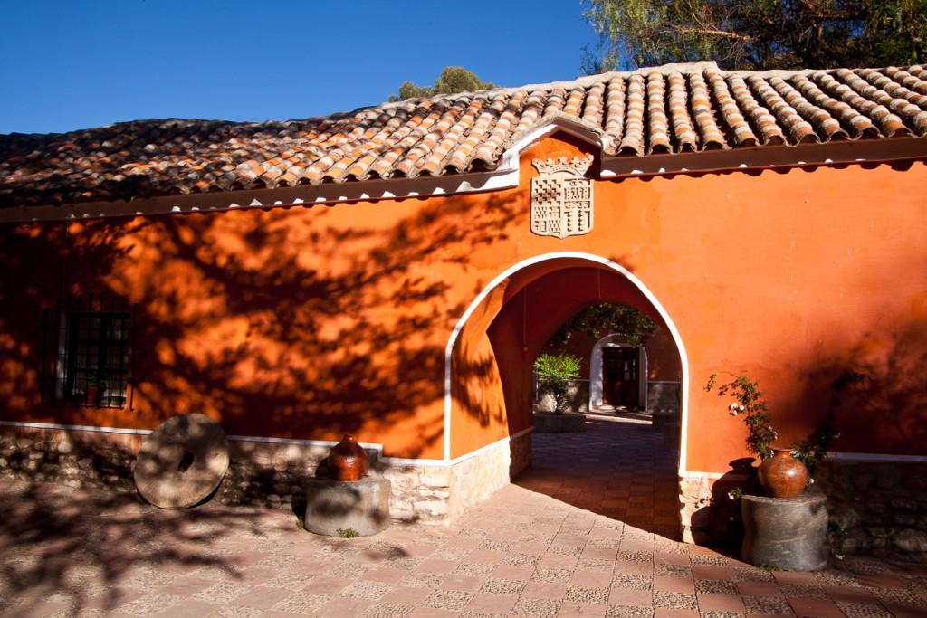 The colonial-era Hacienda Cayara near Potosi, Bolivia is now a h
