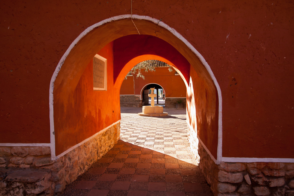 The colonial-era Hacienda Cayara near Potosi, Bolivia is now a h