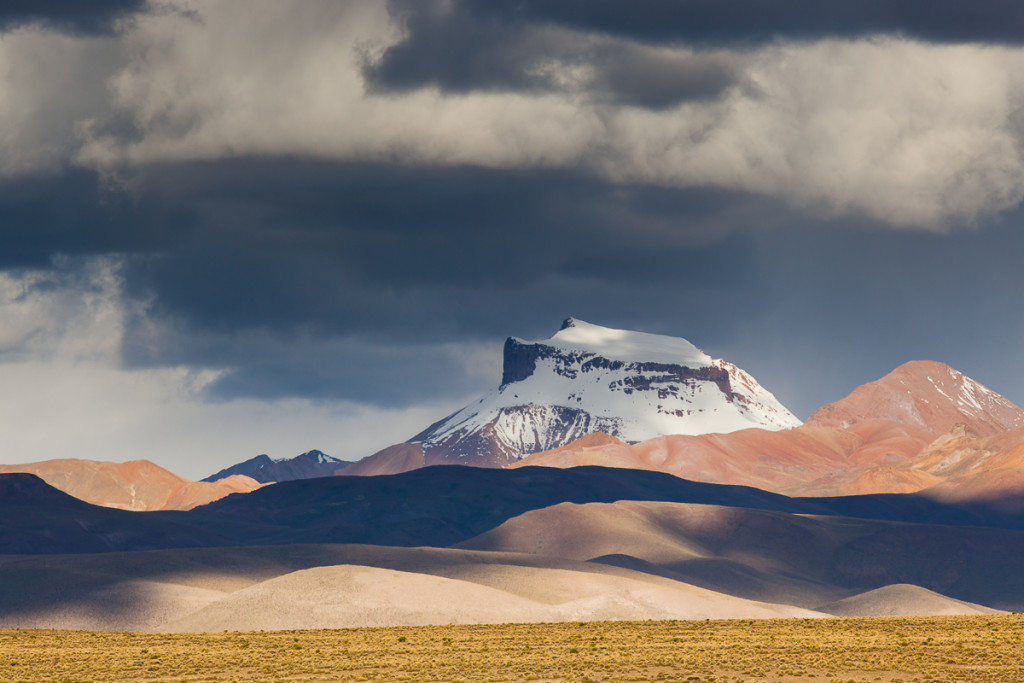 Storm clouds above the Sud Lipez Range in southwestern Bolivia.