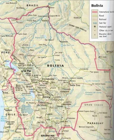 map bolivia